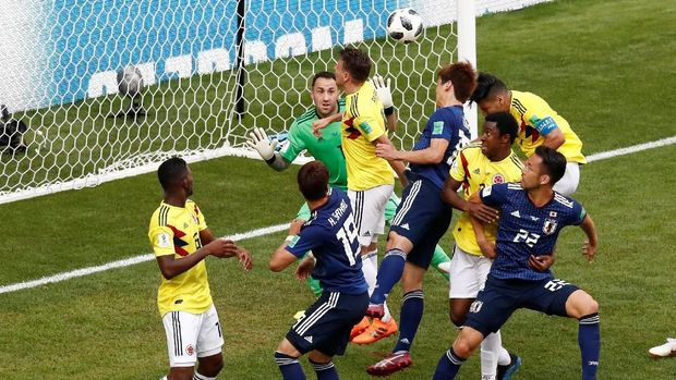Kolombia gagal meraih kemenangan ketika berhadapan dengan Jepang di laga pertama Piala Dunia 2018.