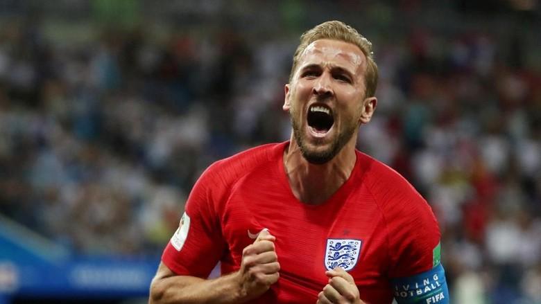 Dua Gol Harry Kane Menangkan Inggris Foto: Reuters