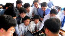 Foto: Melihat Suasana Kuliah di Kampus Korea Utara