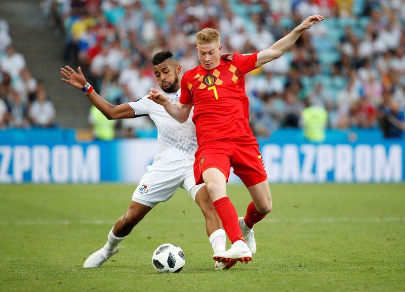 Kevin De Bruyne berhasil mengantarkan Belgia sampai perempat final Piala Dunia 2018, untuk bertemu Brasil (Francois Lenoir/Reuters)