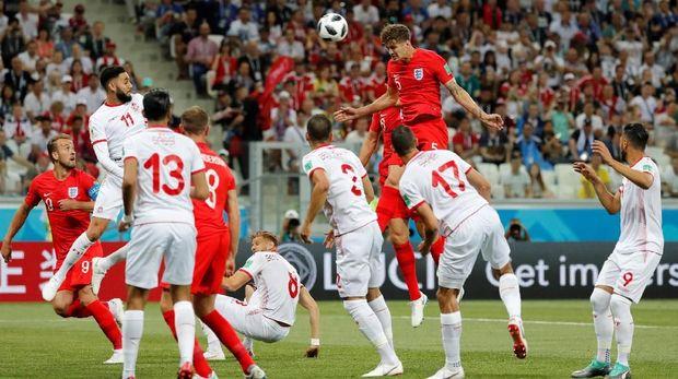 Timnas Inggris menang 2-1 atas Tunisia di pertandingan pertama.