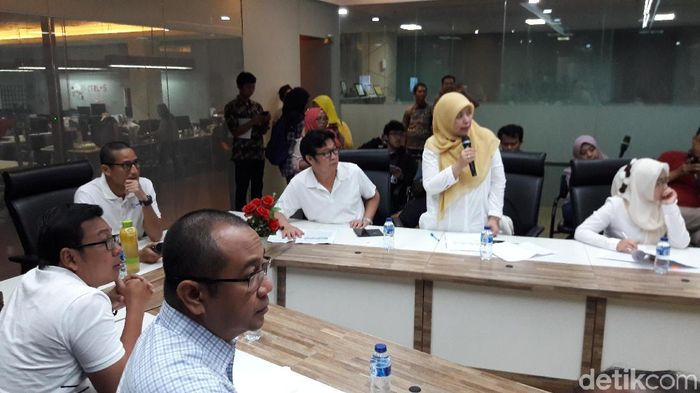 Wagub DKI Jakarta Sandiaga Uno konpers harga bahan pangan selama Lebaran.Foto: Marlinda Oktavia Erwanti/detikcom