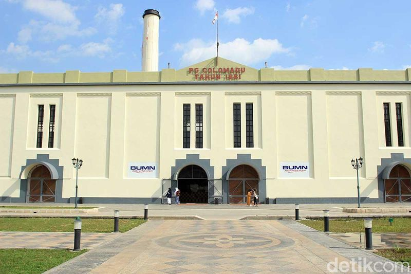 Didirikan pada tahun 1861 oleh Mangkunegara IV, Pabrik Gula (PG) Colomadu yang terbesar di Asia saat itu menjadi bukti akan kedigdayaan Indonesia sebagai produsen gula (Randy/detikTravel)