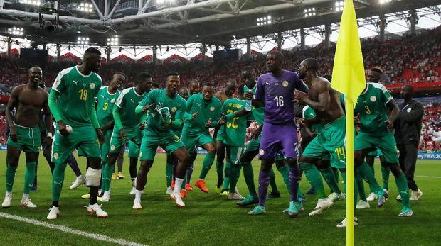 Senegal menekuk Polandia 2-1 di laga pertama mereka di Piala Dunia 2018.