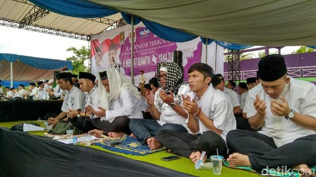 Kampanye Terbuka Pilbup Ciamis, Paslon Gelar Istighasah Kubro