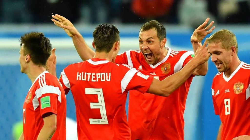Grup A: Uruguay-Rusia Lolos, Mesir-Arab Saudi Tersingkir