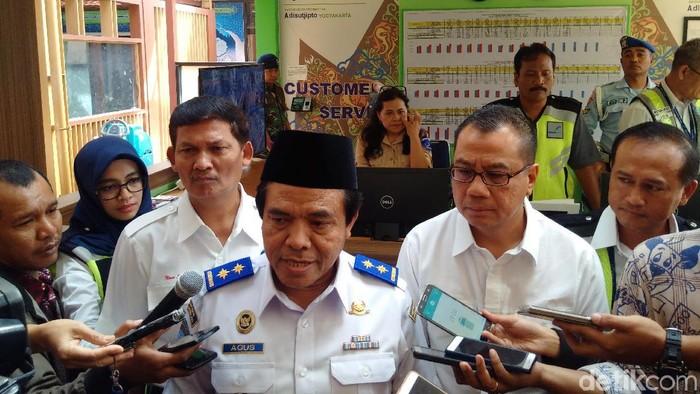Direktur Jenderal Perhubungan Udara Kementerian Perhubungan, Agus Santoso di Bandara Adisutjipto Yogyakarta. Foto: Ristu Hanafi/detikcom
