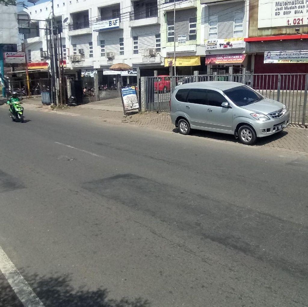 Lokasi Bocah Rafa Dilempar Batu Conblock di Jalan Juanda Depok