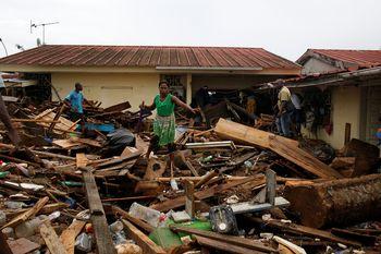Foto: Kerusakan Akibat Banjir Bandang di Pantai Gading