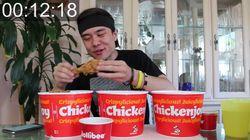 Matt Stonie Hanya Perlu 27 Menit Untuk Lahap 30 Potong Ayam Goreng!