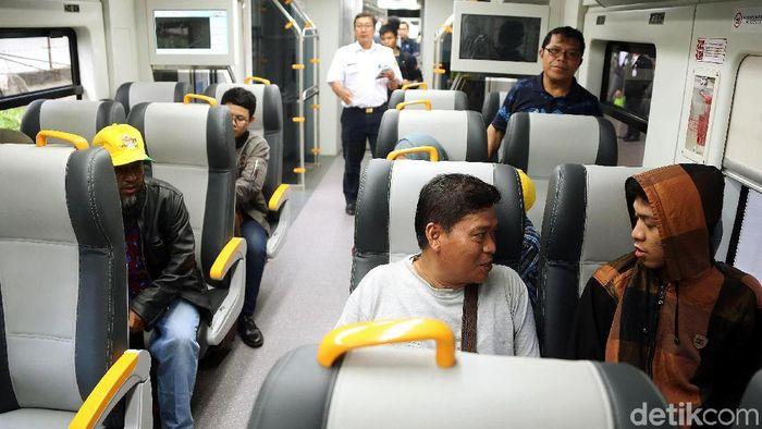 Kereta Bandara Soekarno Hatta sekarang sampai Bekasi Foto: Rengga Sancaya