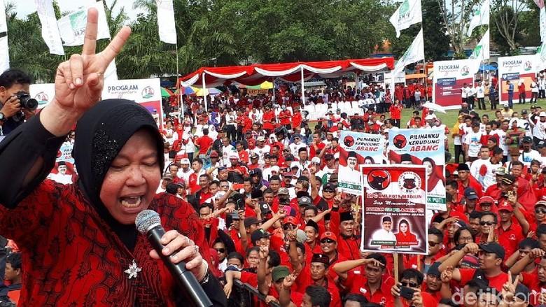 Gaya Risma Kampanyekan Gus Ipul-Puti di Wilayah Mataraman