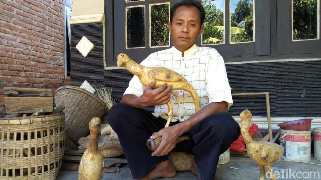 Perajin Bonggol Bambu Ini Kebanjiran Order Saat Lebaran