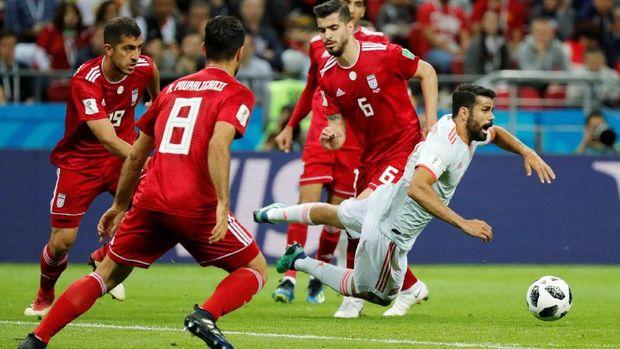 Iran bermain bagus meski kalah 0-1 dari Spanyol.