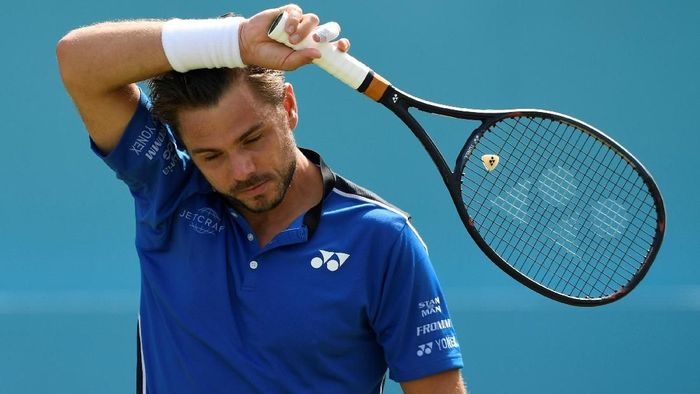 Stan Wawrinka kalah di babak kedua Queens Club Championship. (Foto: Tony OBrien/Action Images via Reuters)