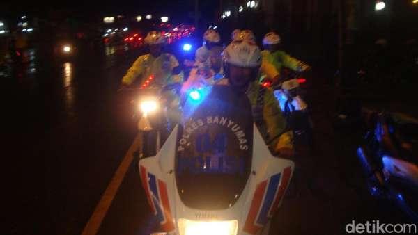 Berlaku One Way, Jalur Ajibarang Bersih dari Kemacetan
