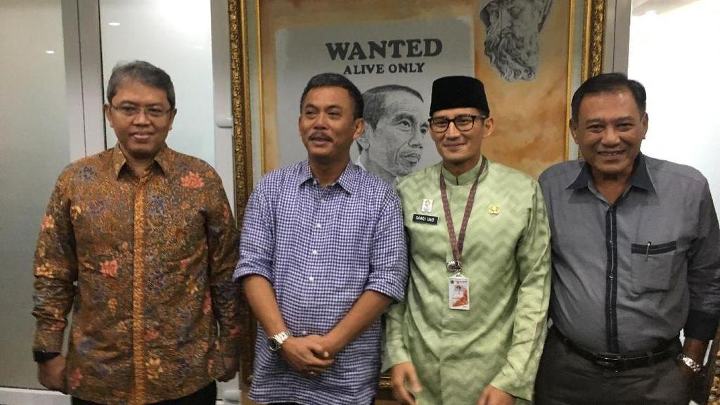Halalbihalal dengan Ketua DPRD, Sandi Diberi Saran soal Tn Abang