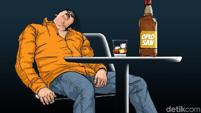 Karena ingin mabuk, beberapa orang melakukan berbagai cara. (Foto ilustrasi: Edi Wahyono)