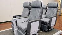 Suasana di dalam pabrik kursi pesawat Zodiac itu ada di Gainesville, Texas (Cynthia Drescher/CNN Travel)