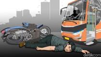 Tabrakan Mini Bus-Motor di Banjarmasin, Ibu dan Anak Tewas