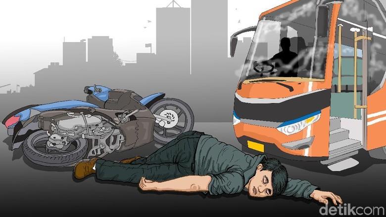 Ilustrasi kecelakaan lalu lintas Foto: Edi Wahyono