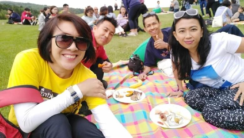 Piknik di Hokkaido, asyik juga! (Dina/detikTravel)