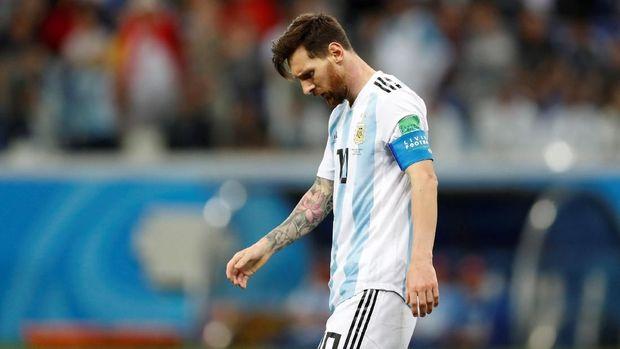 Bintang timnas Argentina, Lionel Messi, belum mencetak gol di Piala Dunia 2018.