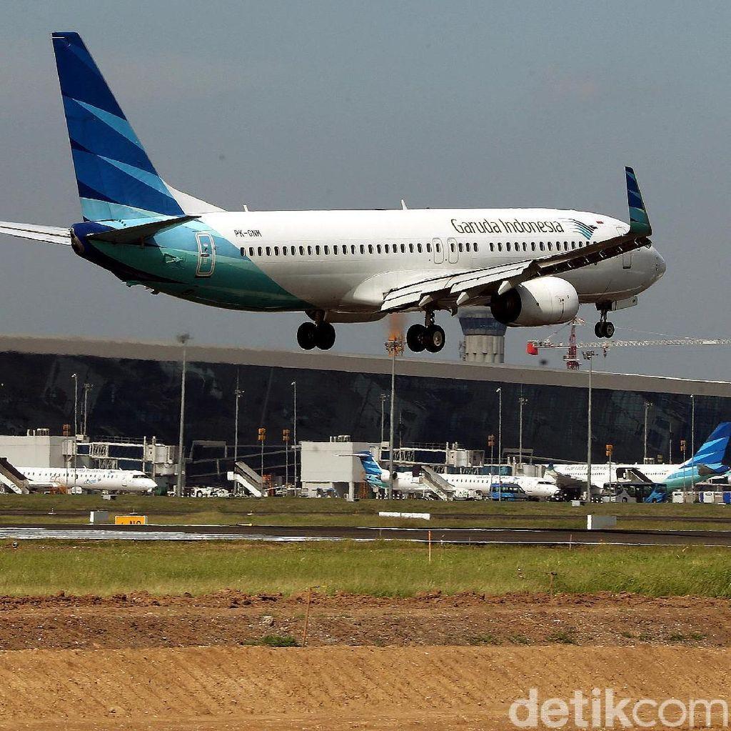 Ramainya Jalur Pesawat di Bandara Soetta Terminal 3