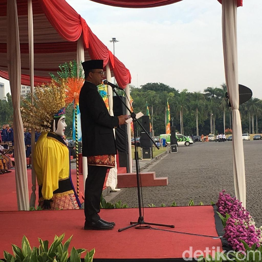 Anies Pimpin Upacara Peringatan HUT ke-491 DKI di Monas