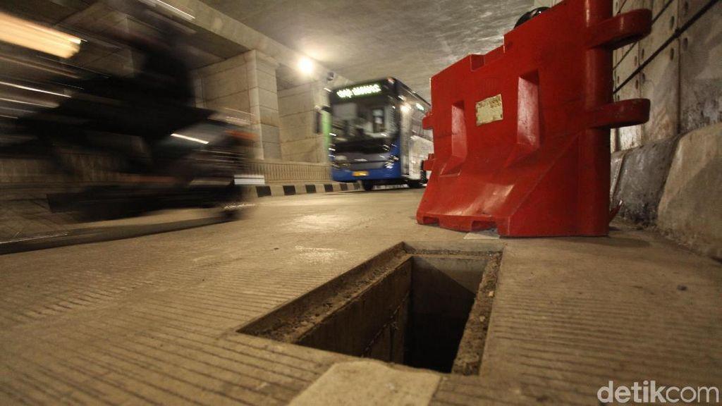 Tutup Gorong-gorong Underpass Hilang Lagi, Sandi Akan Pasang CCTV