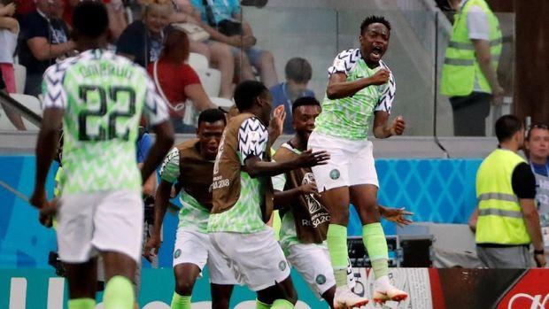 Timnas Nigeria masih berpeluang lolos ke babak 16 besar Piala Dunia 2018. (