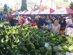 Ribuan Warga Madiun Berburu 16.825 Pincuk Nasi Pecel Gratis