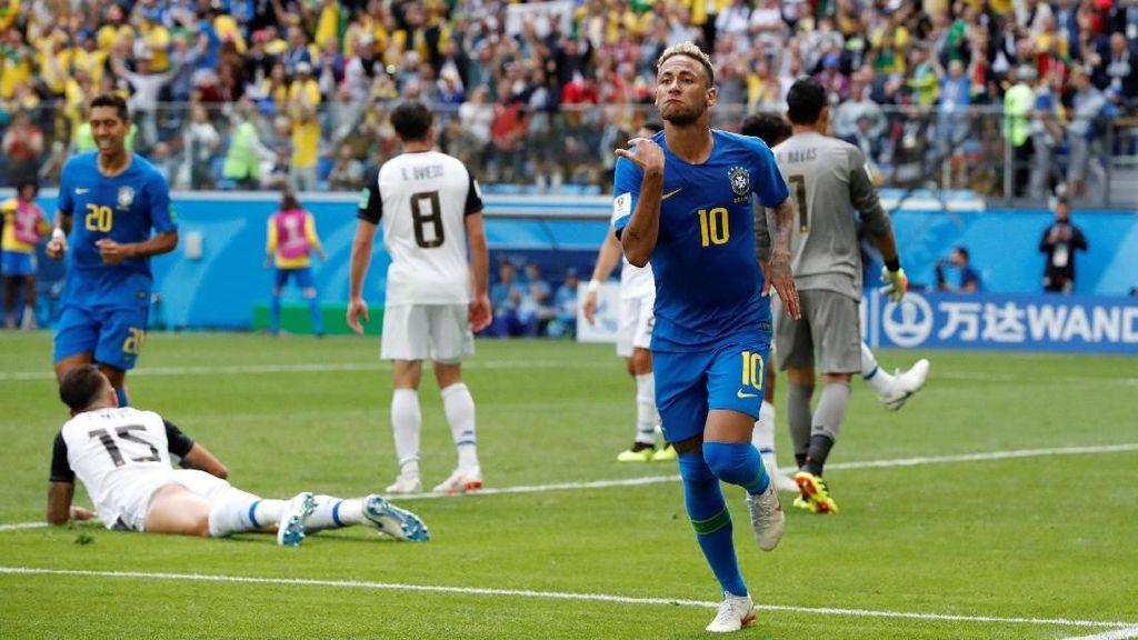 Lawan Kosta Rika, Neymar: Diving, Cetak Gol dan Air Mata