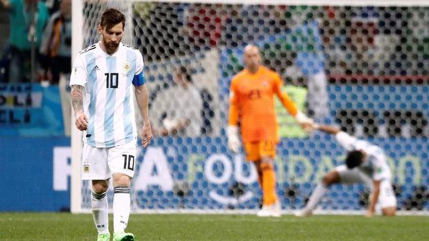 Argentina kehilangan lima poin dalam dua pertandingan fase grup Piala Dunia 2018.