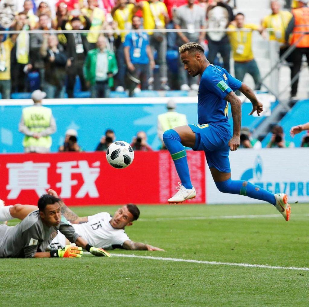 Dua Gol di Injury Time Menangkan Brasil atas Kosta Rika