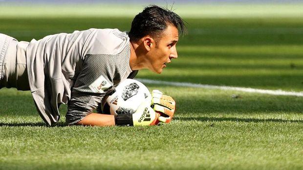 Kiper Real Madrid Keylor Navas jadi palang pintu terakhir Kosta Rika.