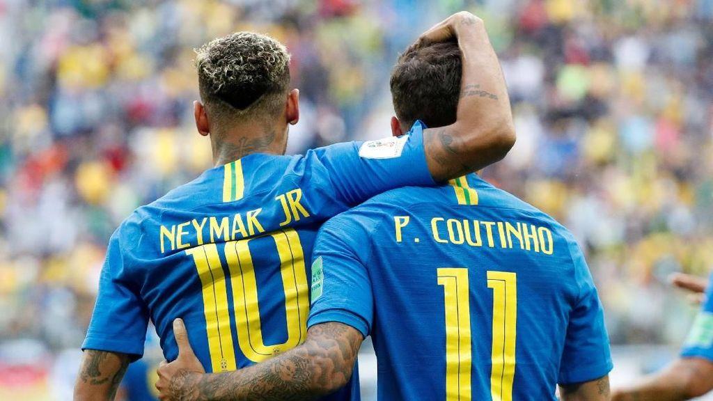 Gol Coutinho dan Neymar Singkirkan Kosta Rika
