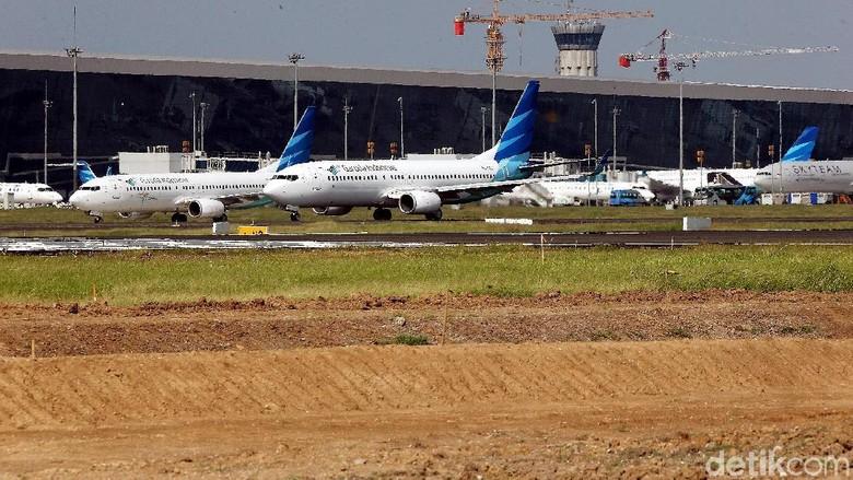 Ramainya pesawat di Bandara Soekarno-Hatta (Rengga Sancaya/detikTravel)