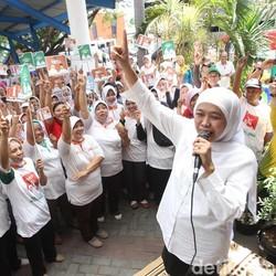 Jelang Kampanye Berakhir, Khofifah Cari Dukungan ke Buruh