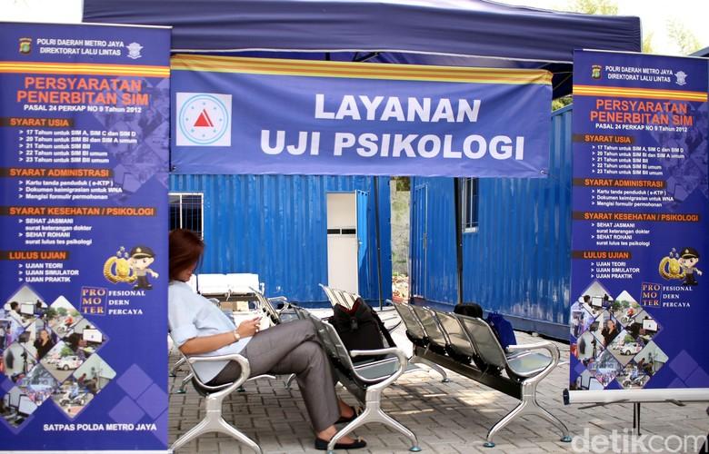 Uji Psikologi SIM. Foto: Rifkianto Nugroho