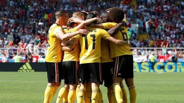Timnas Belgia tembus ke semifinal Piala Dunia 2018. (
