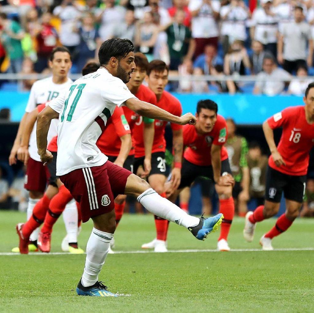 Babak I: Meksiko Sementara Unggul 1-0 atas Korsel