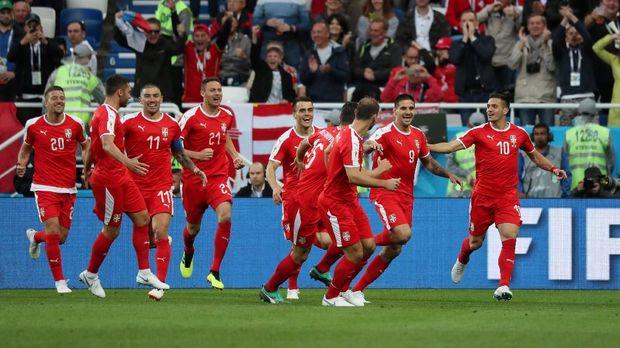 Serbia kalah 1-2 dari Swiss di laga Grup E.