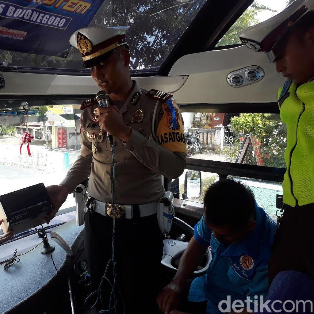 Antisipasi Sopir Bus Ngebut, Polres Bojonegoro Pasang Speed Alarm
