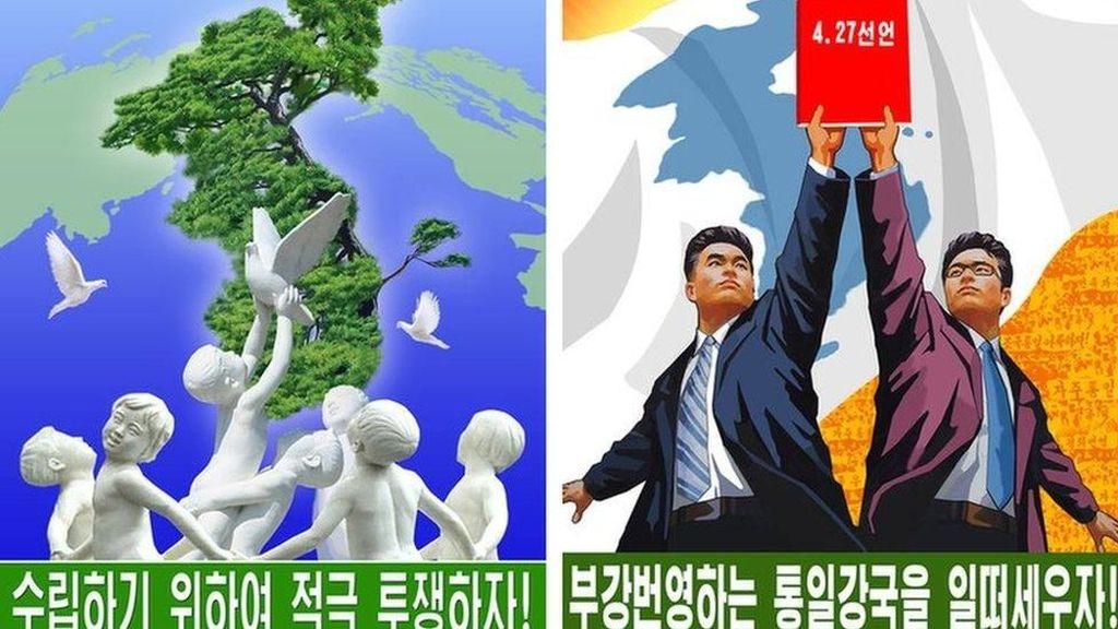 Korut Ubah Materi Propaganda: Poster Anti-AS di Pyongyang Dicabut