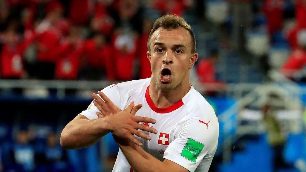 FIFA Investigasi Selebrasi Identik Xhaka dan Shaqiri