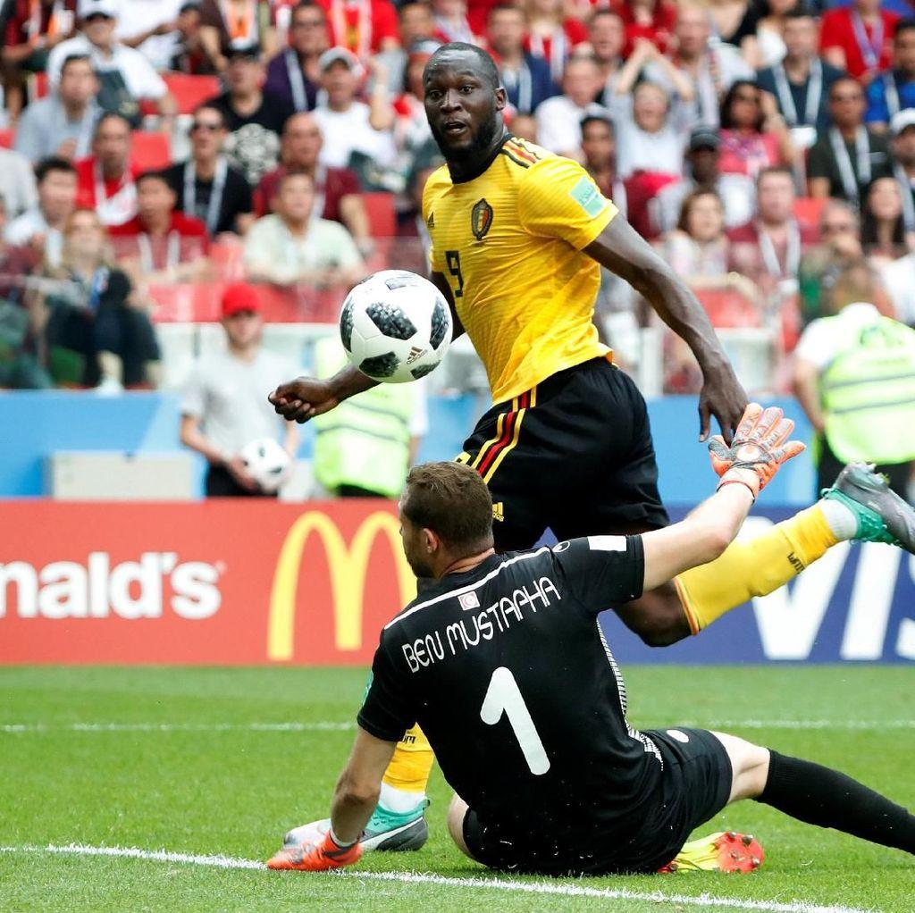 Lukaku Dua Gol, Belgia Ungguli Tunisia 3-1 di Babak Pertama