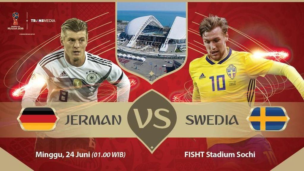 Live Report Piala Dunia 2018: Jerman vs Swedia