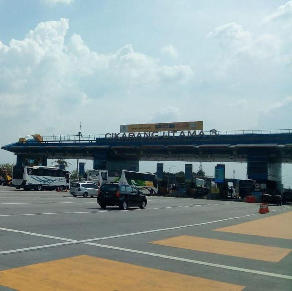 Arus Balik di Tol Cikampek Lancar, GT Cikarang Utama Tanpa Antrean