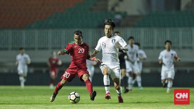 Timnas Indonesia U-23 kalah 1-2 dari Korea Selatan pada laga persahabatan. (
